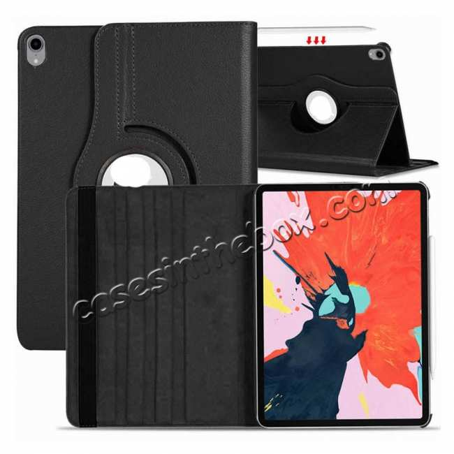 best price 360 Degrees Rotating Stand Leather Case For iPad Pro 11-inch