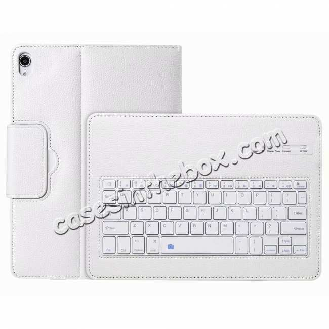 best price Detachable Wireless Bluetooth Keyboard Stand Leather Case For iPad pro 11-inch 2020- White