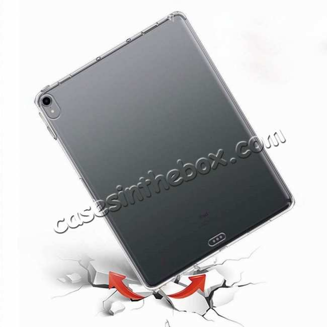 cheap Ultra-thin Transparent Soft TPU Shockproof Case Cover for iPad Pro 11 inch