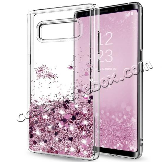 cheap For Samsung Galaxy Note 9 / Note 8 / S10 / S10 Plus Glitter Liquid Quicksand TPU Case Cover