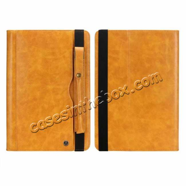 discount Business Smart Sleep/Wake Stand Leather case For iPad pro 11-inch - Yellow