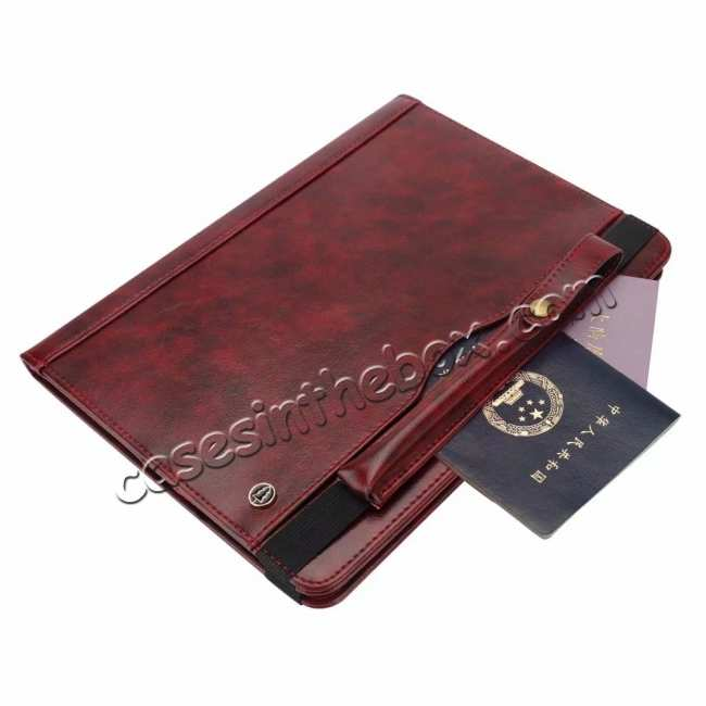 best price Business Smart Sleep/Wake Stand Leather case For iPad pro 11-inch - Wine Red