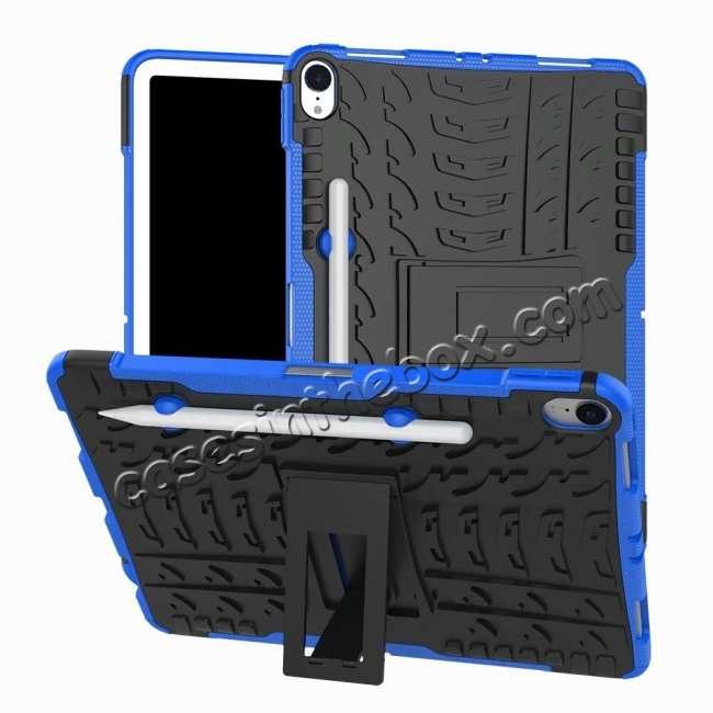 wholesale For iPad Pro 11-inch Dual Layer Hybrid Shockproof Kickstand Case - Blue