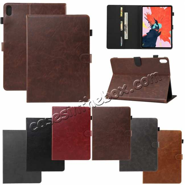 wholesale Crazy Horse Leather Flip Stand Case for iPad Pro 2018 12.9/11