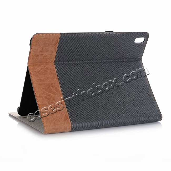 wholesale Cross Pattern Stand Smart Leather Case for iPad Pro 12.9 2018  - Grey
