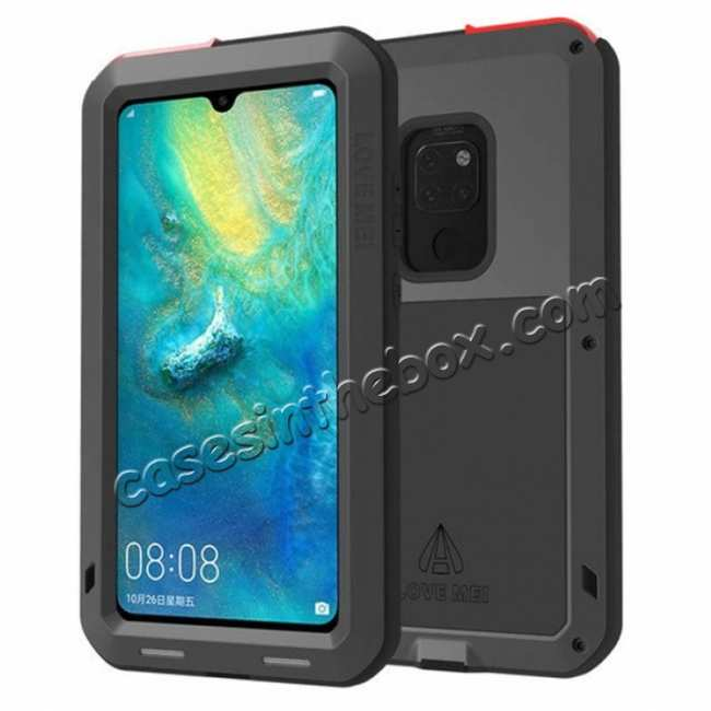 outlet store 11293 842a2 Shockproof Waterproof Metal Glass Case For Huawei Mate 20