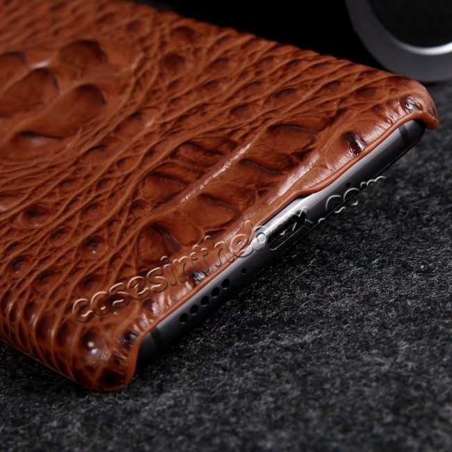 best price 3D Crocodile Head Grain Genuine Leather Back Case for Huawei Mate 20 Series