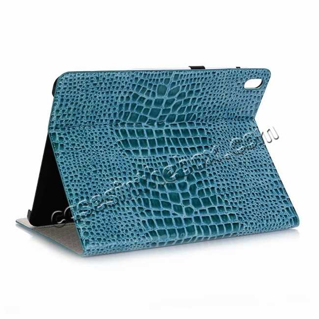wholesale Luxury Crocodile Pattern Stand Leather Case for iPad Pro 12.9 2018 - Blue