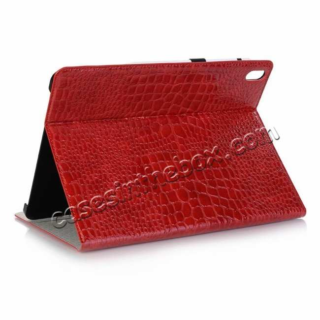 wholesale Luxury Crocodile Pattern Stand Leather Case for iPad Pro 12.9 2018 - Red