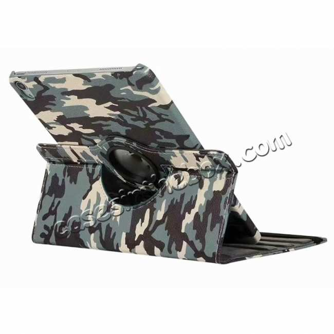 top quality 360 Rotating Camouflage Stand Leather Case For iPad Pro 11 inch