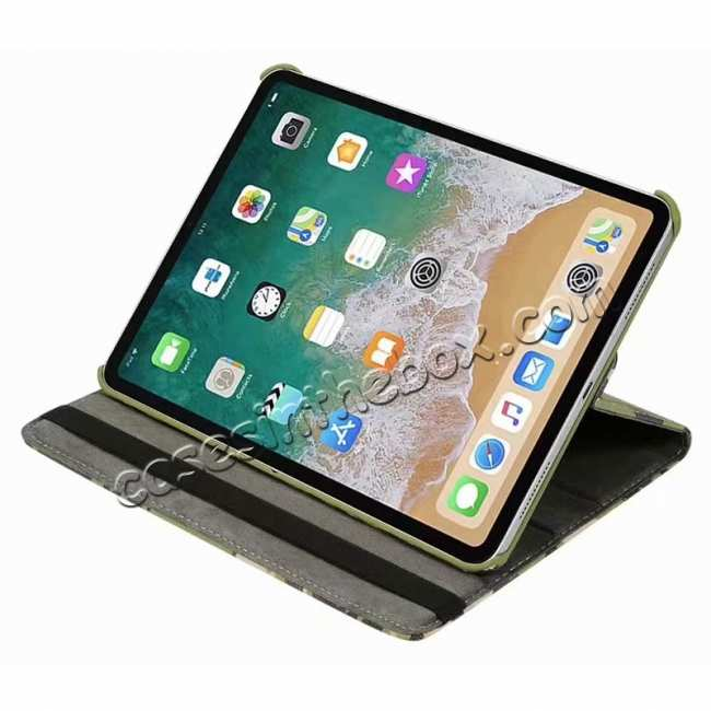 best price 360 Rotating Camouflage Stand Leather Case For iPad Pro 11 inch