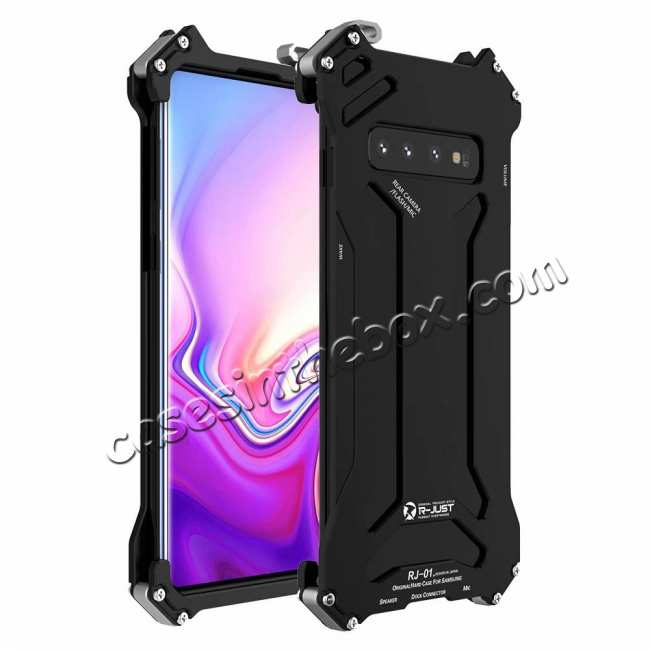 wholesale R-JUST Gundam Series Aluminum Shockproof Case for Samsung Galaxy S10 - Black
