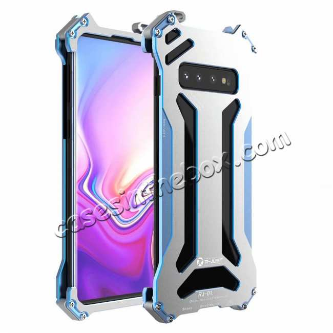 wholesale For Samsung Galaxy S10 Lite Aluminum Metal Shockproof Case - Blue