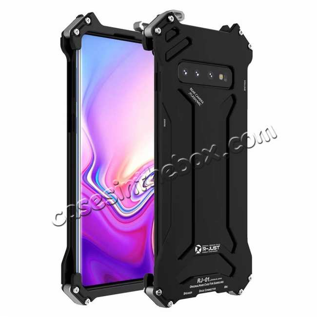 wholesale For Samsung Galaxy S10 Lite Aluminum Metal Shockproof Case - Black