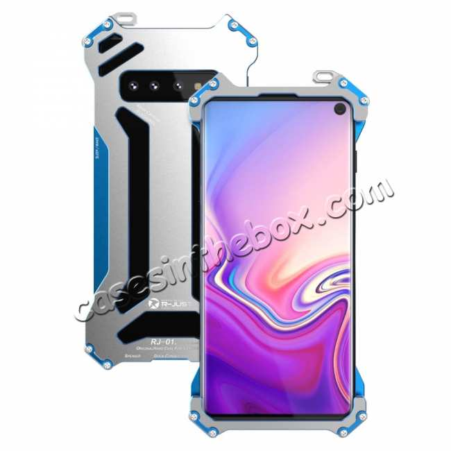 best price Case For Samsung Galaxy S10 S10e S10 Plus Shockproof Aluminum Metal Cover - Black