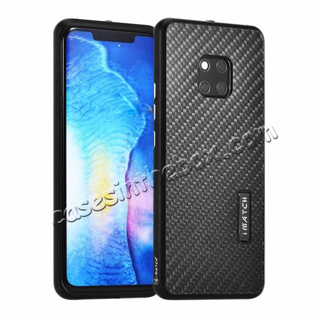 wholesale Shockproof Aluminium Metal Carbon Case for Huawei Mate 20 Pro - Black