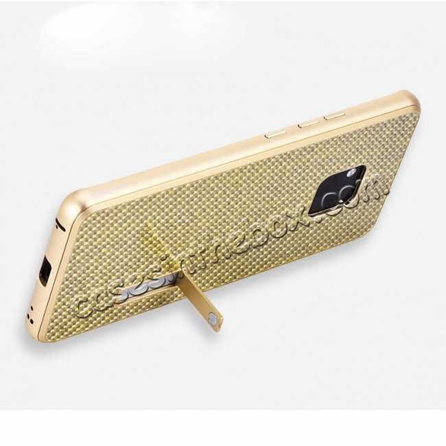 top quality Shockproof Aluminium Metal Carbon Case for Huawei Mate 20 Pro - Gold&Black