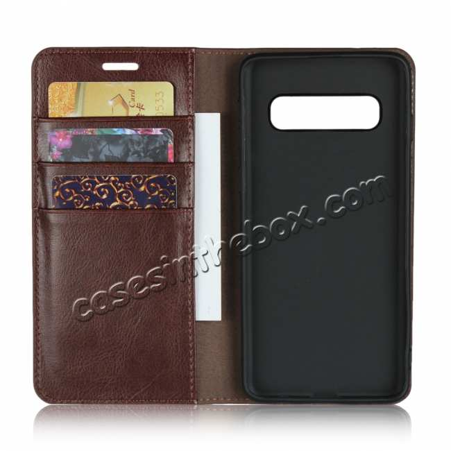 top quality Magnetic Wallet Genuine Leather Case Cover For Samsung Galaxy A51 S10 S20 Ultra Plus