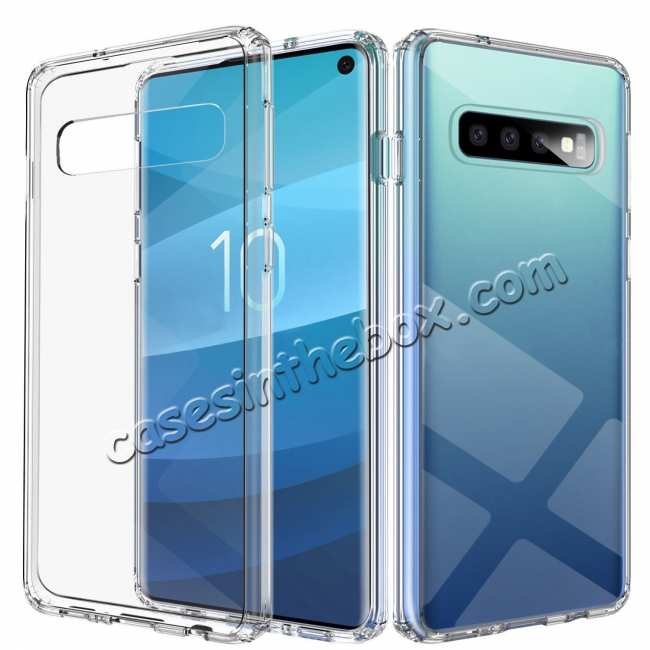 wholesale For Samsung Galaxy S10 Soft TPU Crystal Transparent Slim Anti Slip Full-Body Protective Case Cover