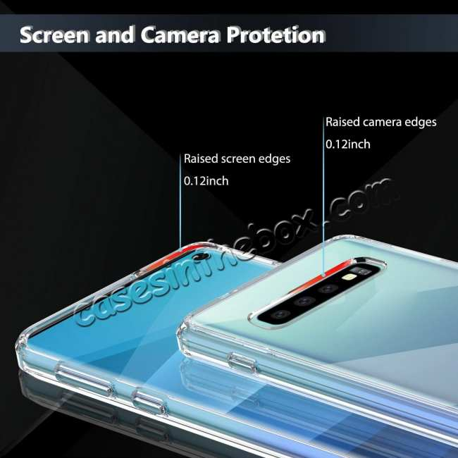 discount For Samsung Galaxy S10 Soft TPU Crystal Transparent Slim Anti Slip Full-Body Protective Case Cover