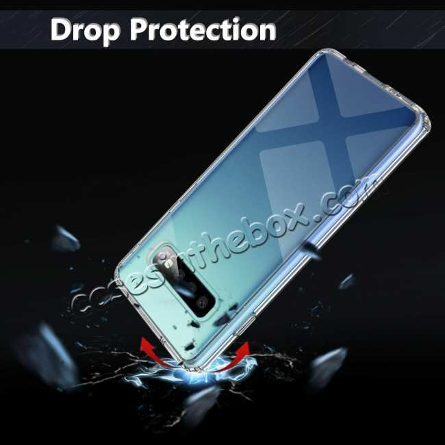 cheap For Samsung Galaxy S10 Soft TPU Crystal Transparent Slim Anti Slip Full-Body Protective Case Cover
