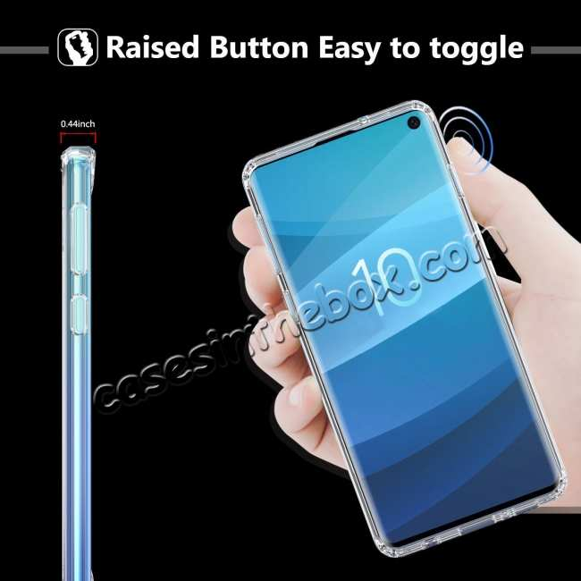 top quality For Samsung Galaxy S10 Soft TPU Crystal Transparent Slim Anti Slip Full-Body Protective Case Cover