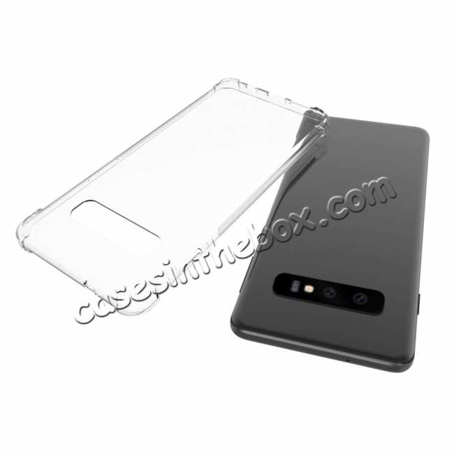 top quality For Samsung Galaxy S10 Plus Clear Slim Soft TPU Shockproof Case Cover
