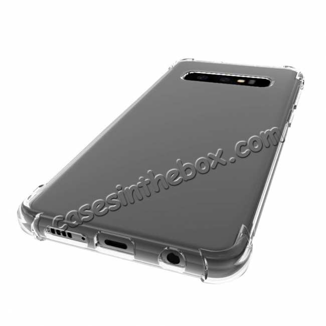 discount For Samsung Galaxy S10 Plus Clear Slim Soft TPU Shockproof Case Cover