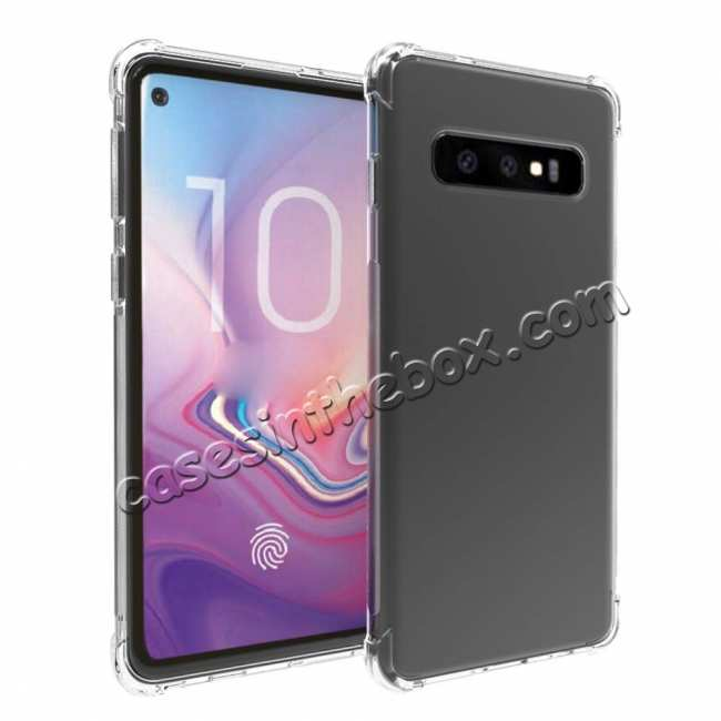 wholesale For Samsung Galaxy S10 Plus Clear Slim Soft TPU Shockproof Case Cover