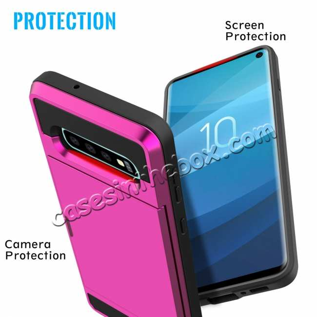 best price For Samsung Galaxy S10 Plus/S10E/Lite Case Cover With Card Wallet Holder Slot - Rose