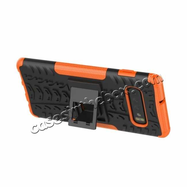 cheap Shockproof Armor TPU Hard Stand Case For Samsung Galaxy S10 - Orange