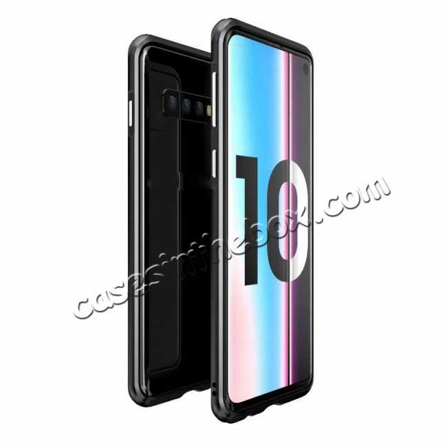 wholesale Shockproof Aluminum Metal Frame Case for Samsung Galaxy S10 - Black