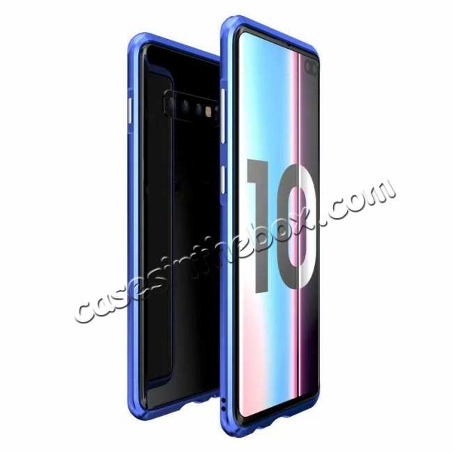 wholesale Shockproof Aluminum Metal Bumper Case for Samsung Galaxy S10 Plus - Blue