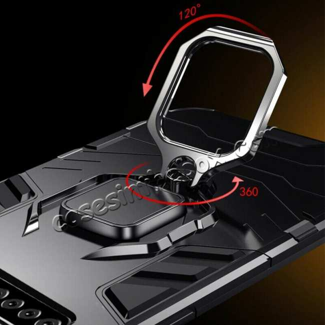 best price Shockproof Armor Ring Magnetic Case Cover For Samsung Galaxy S10 - Black