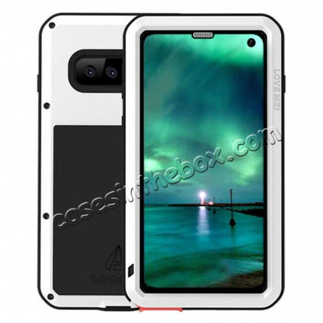 wholesale For Samsung Galaxy S10E Gorilla Glass Aluminum Metal Case Cover - White