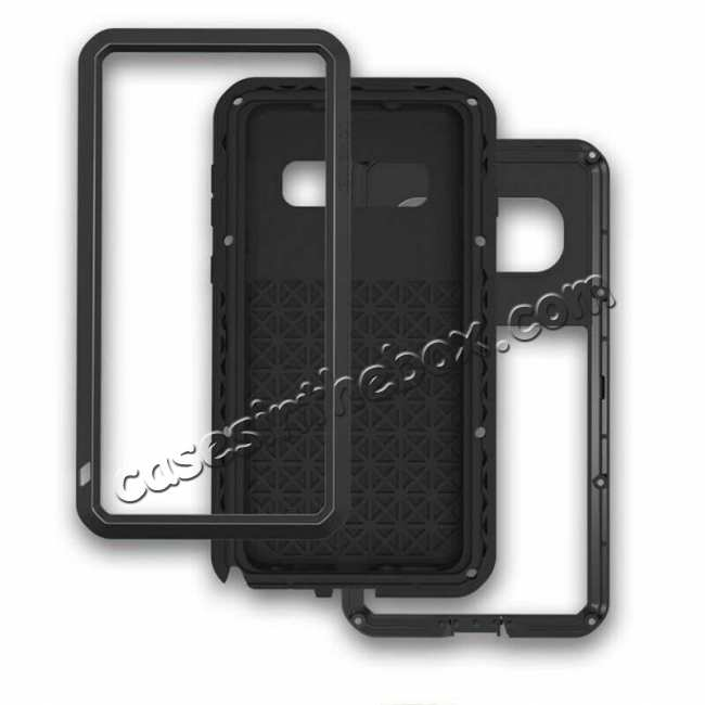best price Waterproof Shockproof Metal Aluminum Gorilla Glass Case For Samsung Galaxy S10 - Silver