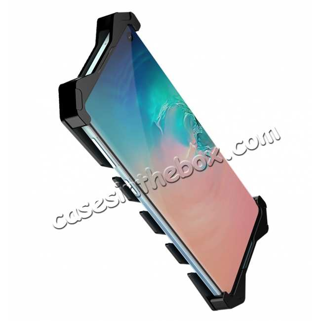 discount Luxury Aluminum Metal Shockproof Case For Samsung Galaxy S10 - Black