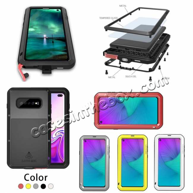 wholesale Shockproof Aluminum Metal Cover Case For Samsung Galaxy Galaxy S10 Plus /S10E /A8S /S10 /Note 9 S9 S9 Plus + FREE SHIPPING