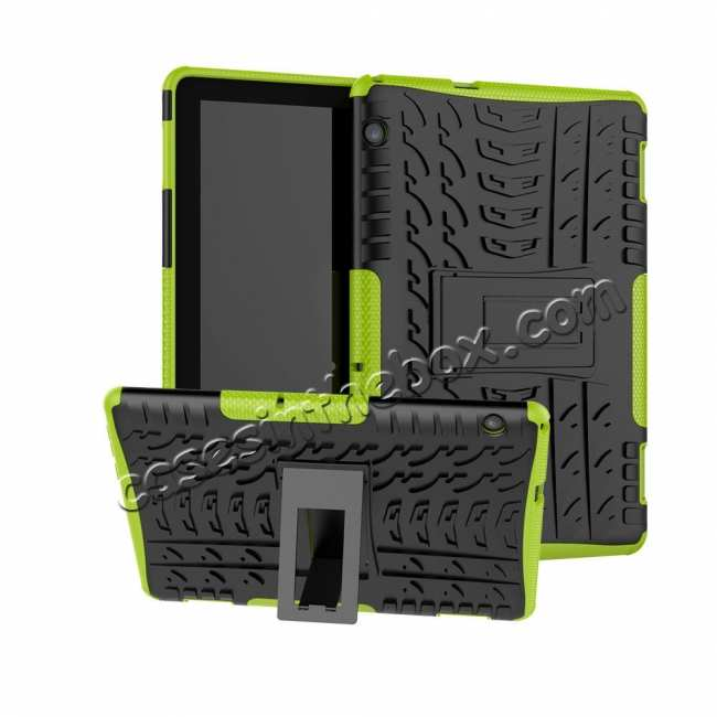 wholesale For Huawei Mediapad T5 10 10.1inch Case Shockproof Rugged Armor Hybrid Protective Cover - Green