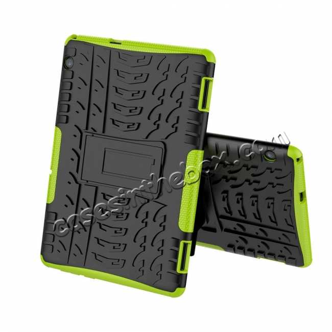 discount For Huawei Mediapad T5 10 10.1inch Case Shockproof Rugged Armor Hybrid Protective Cover - Green