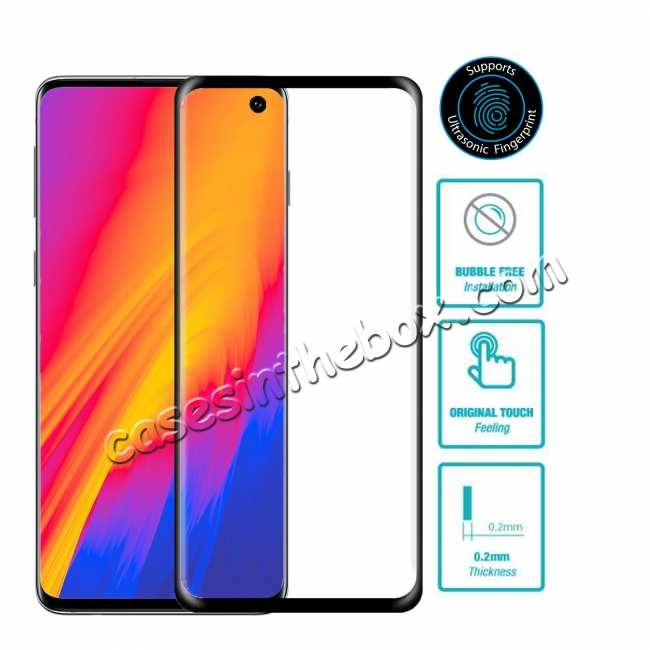wholesale For Samsung Galaxy S10 S10E Plus Tempered Glass Screen Protector Film Full Coverage 3D Curved
