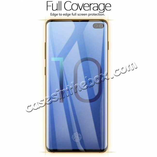cheap For Samsung Galaxy S10 S10E Plus Tempered Glass Screen Protector Film Full Coverage 3D Curved
