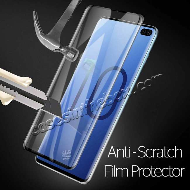 best price For Samsung Galaxy S10 S10E Plus Tempered Glass Screen Protector Film Full Coverage 3D Curved