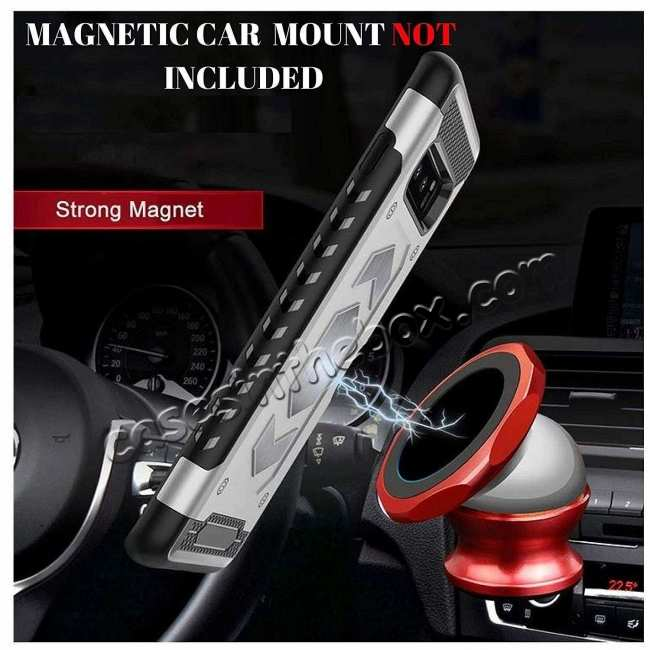 cheap Armor Magnetic Car Holder Card Slot Back Case Cover For Samsung Galaxy S10e - Black