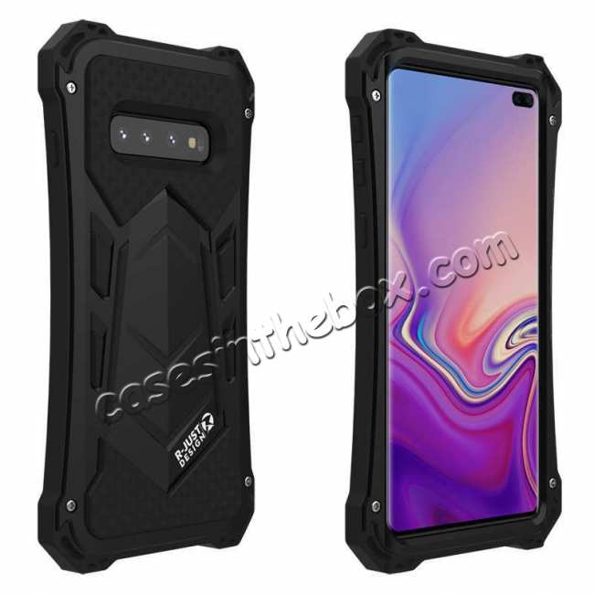 wholesale Case For Samsung Galaxy S10 Plus R-JUST Shockproof Metal Alloy Case - Black