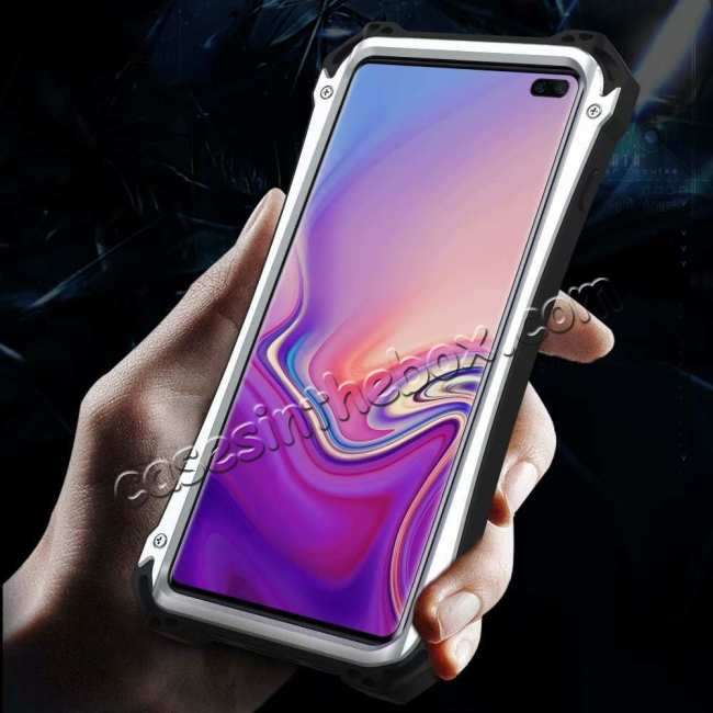 top quality Case For Samsung Galaxy S10 Plus R-JUST Shockproof Metal Alloy Case - Black