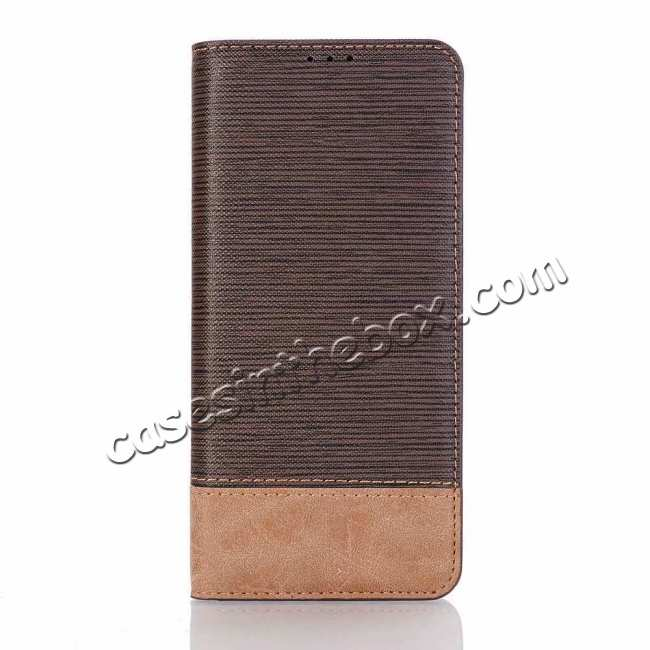 best price Cross Two-Colored Stand Leather Case For Samsung Galaxy S10e - Coffee