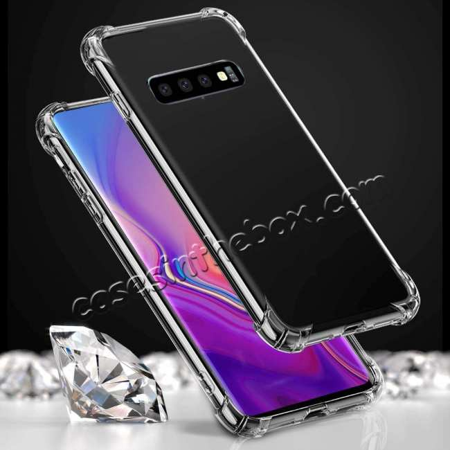 discount For Samsung Galaxy S10 Plus Crystal Clear Ultra Slim TPU Phone Case Cover