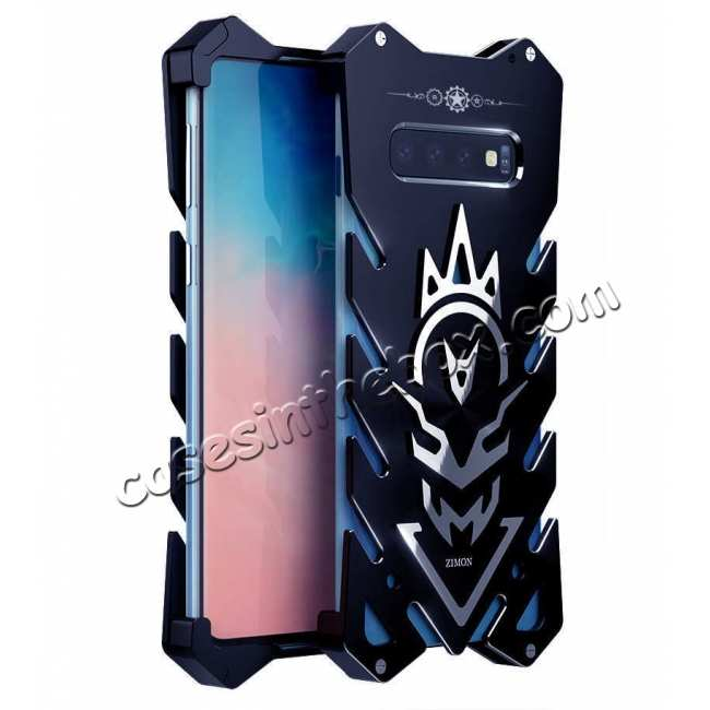 wholesale For Samsung Galaxy S10 Plus Shockproof Aluminum Metal Case - Black