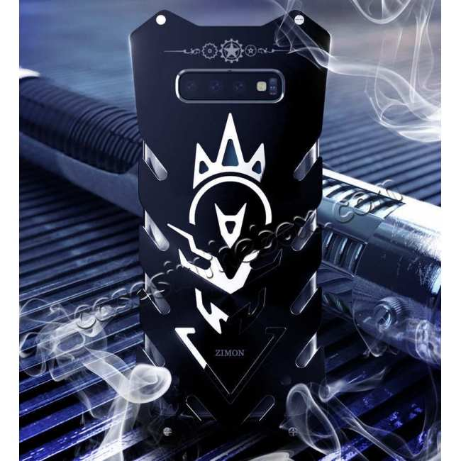 top quality For Samsung Galaxy S10 Plus Shockproof Aluminum Metal Case - Black